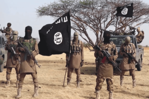 ISWAP militants in Lake Chad