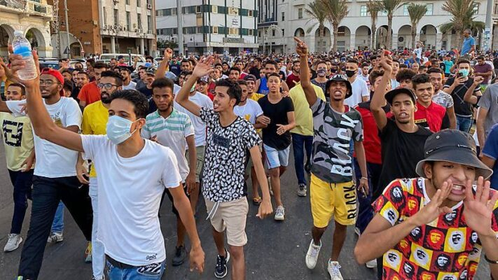 On 23 August, large protests erupted in the Libyan capital Tripoli, which until recently had been under military attack by rival forces for more than a year. The protests began by decrying endemic corruption and deteriorating living conditions in the capital.